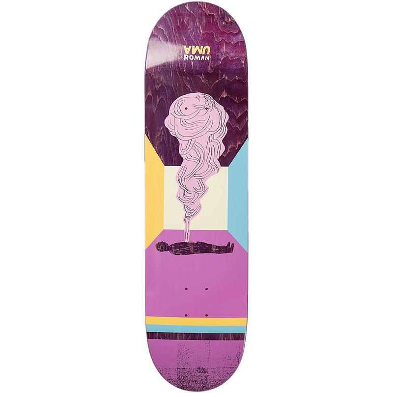 UMA landsleds Roman Art Two Skateboard Deck 8.75