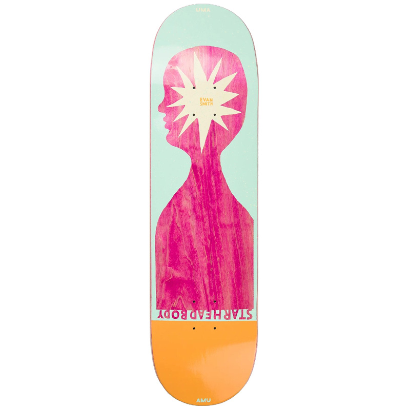 UMA Landsleds Starhead Body Evan Skateboard Deck 8.25