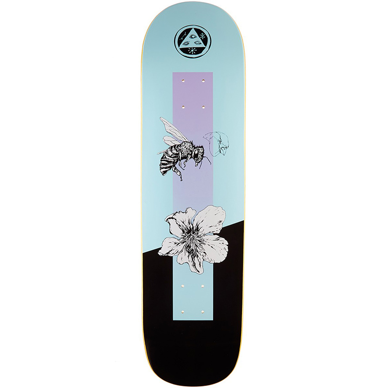 Welcome Adaptation On Big Bunyip Blue Skateboard Deck 8.5