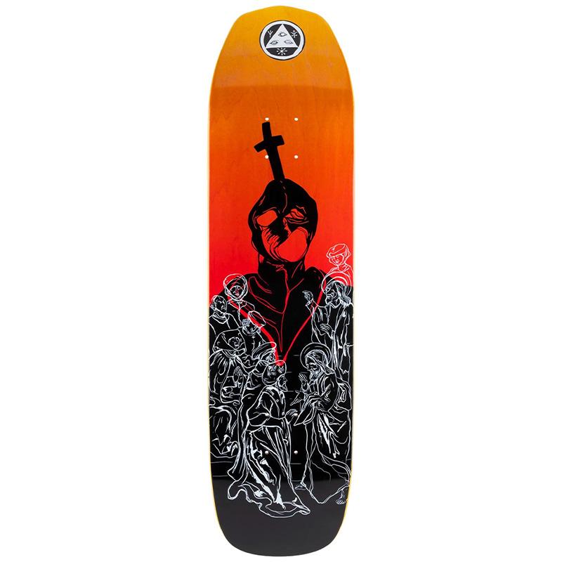 Welcome American Idolatry On Vimana Skateboard Deck Black/Fire Stain 8.25