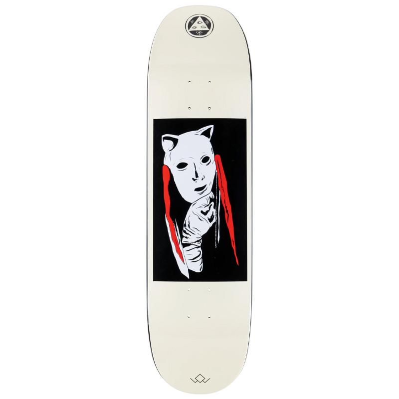 Welcome Audrey on Moontrimmer 2.0 Skateboard Deck Black Dip/Bone 8.65