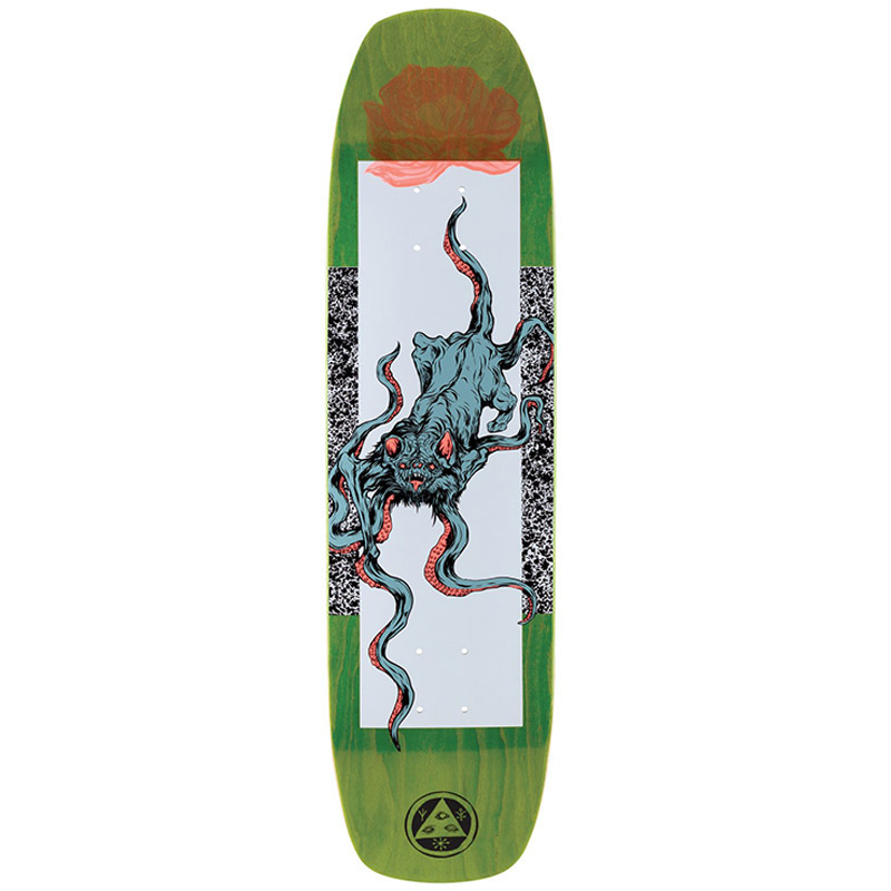Welcome Bactocat On Wormtail Skateboard Deck White/Black 8.4