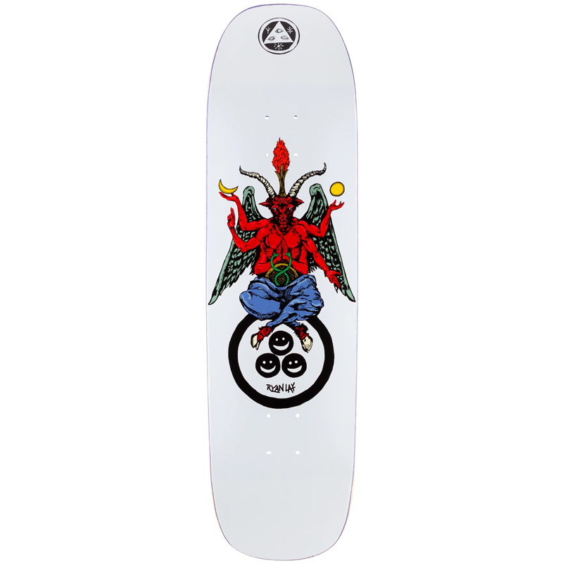 Welcome Bapholit Ryan Lay On Stonecipher Skateboard Deck White 8.6