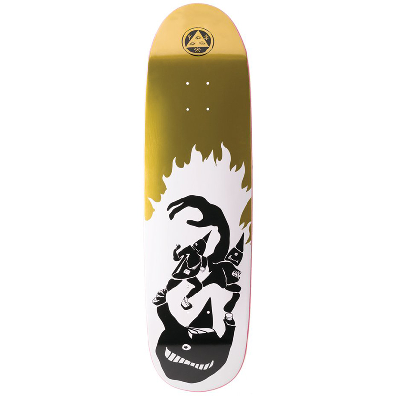 Welcome Creepers On Atheme Skateboard Deck Foil White/Gold 8.8