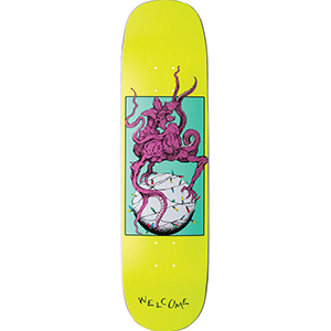 Welcome Demon Prince 2 on Amulet Skateboard Deck Neon Yellow 8.125