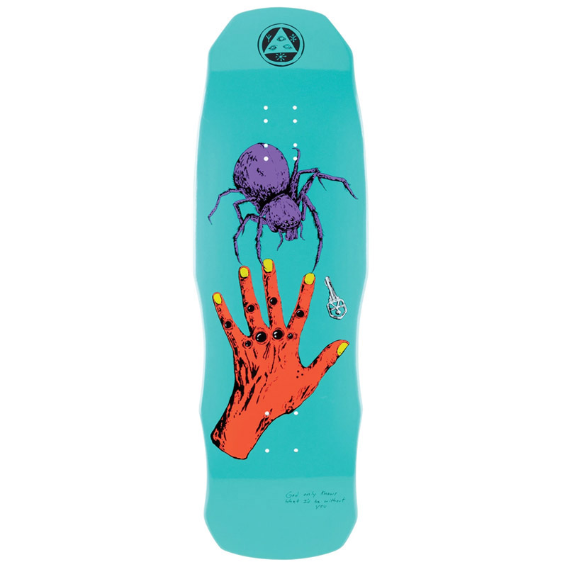 Welcome Gateway On Dark Lord Skateboard Deck Teal Dip 9.75