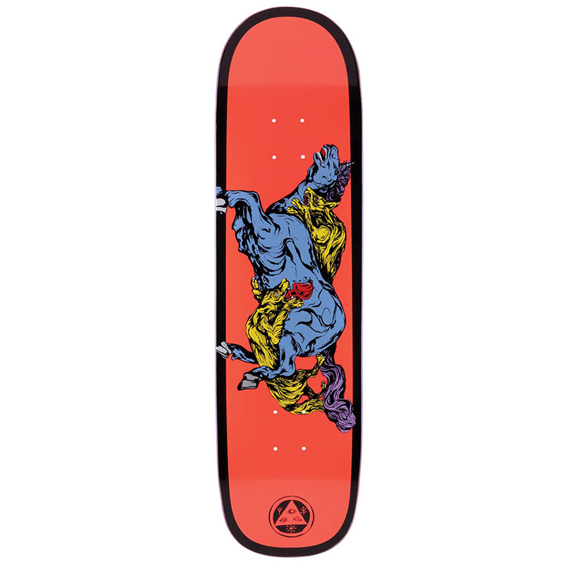 Welcome Goodbye Horses On Big Bunyip Skateboard Deck Coral/Black 8.5