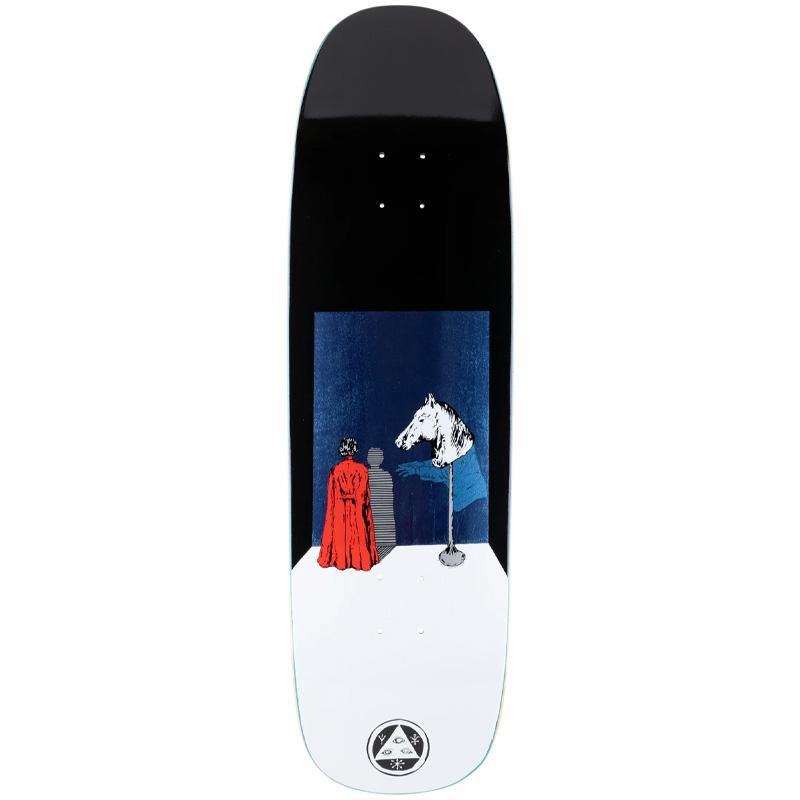 Welcome Haunted Horse on Golem Skateboard Deck Black/White 9.25