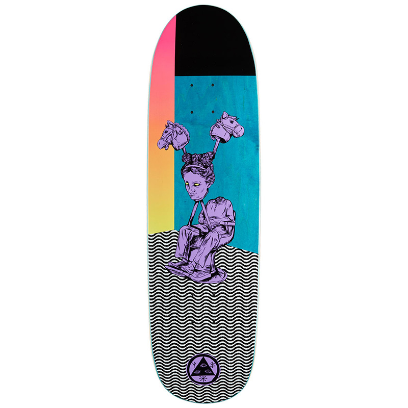 Welcome Hedo Rick On Atheme Skateboard Deck Purple/Teal Stain 8.8