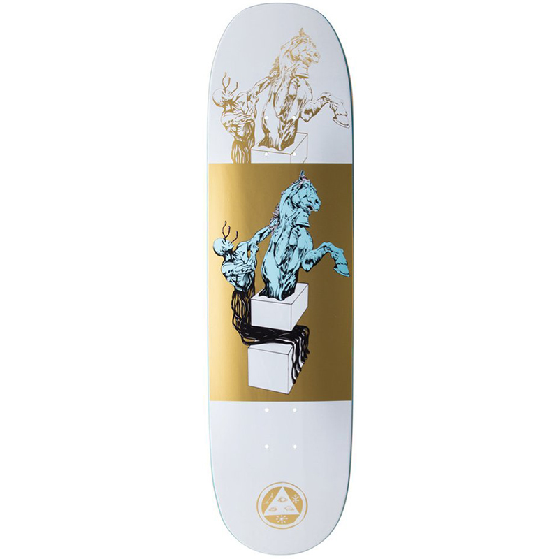 Welcome Hierophant Deck On Moontrimmer 2.0 White/Gold 8.5