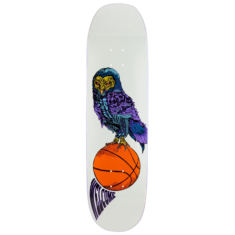 Welcome Hooter Shooter On Moontrimmer 8.0 Skateboard Deck Bone 8.5