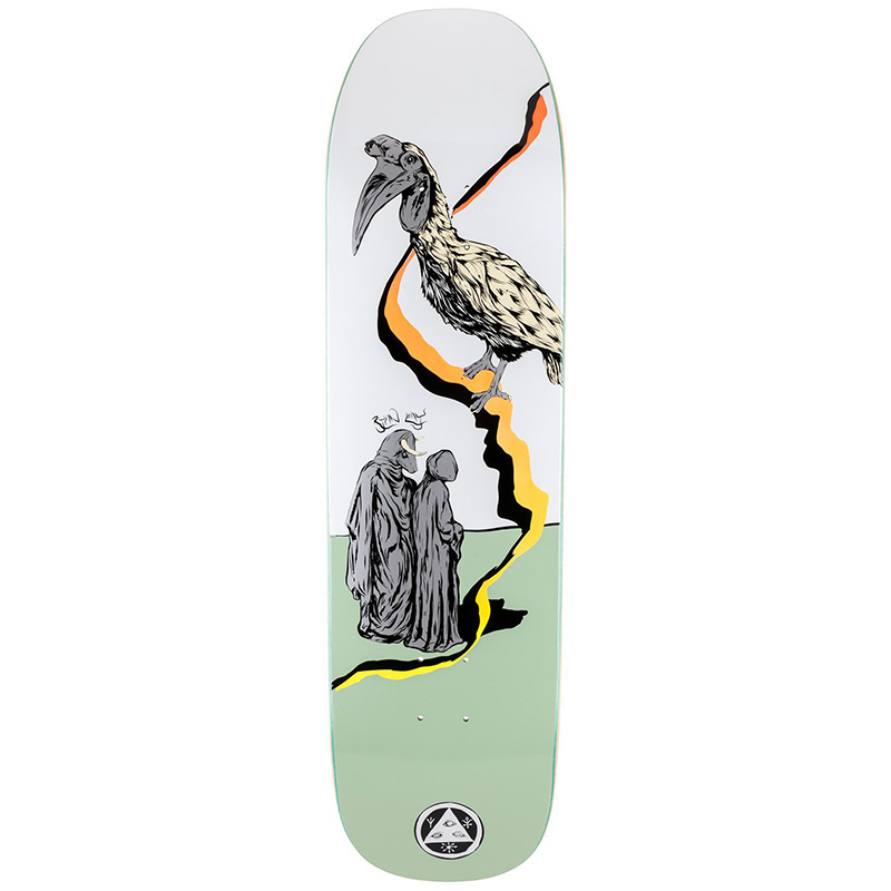Welcome Inferno Ryan Lay Pro Model On Stonecipher Skateboard Deck White/Sage 8.6