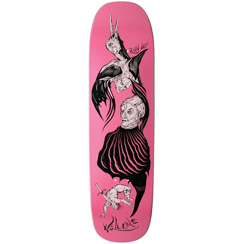 Welcome Isobel Ryan Lay on Stonecipher Skateboard Deck Rose 8.6