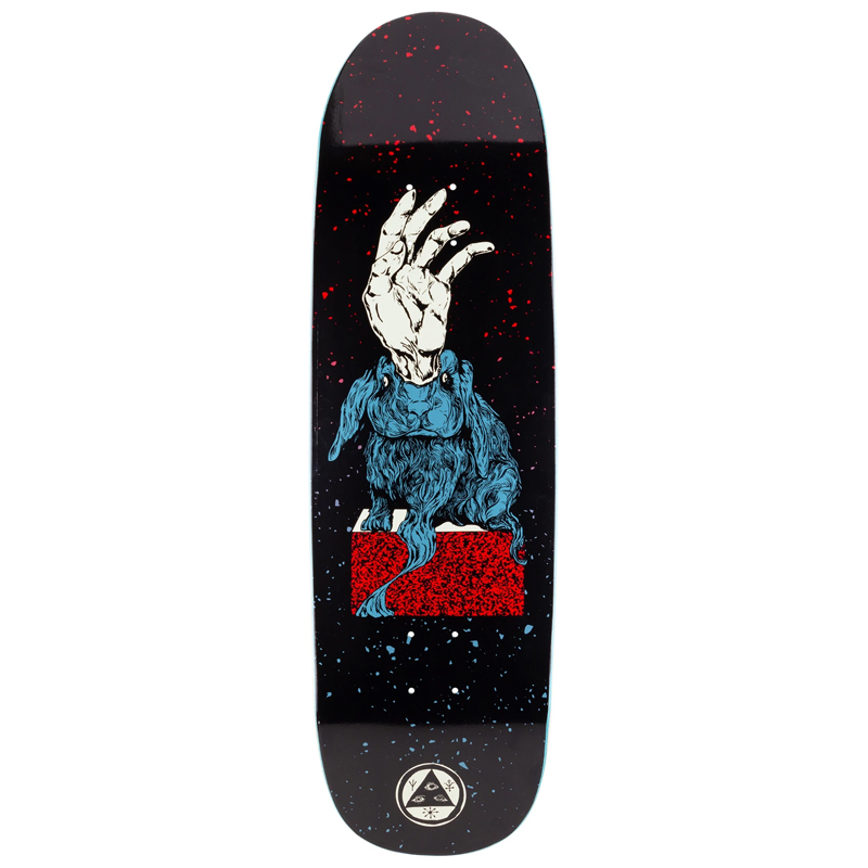 Welcome Magic Bunny On Boline Skateboard Deck Black/Red/Blue 9.25