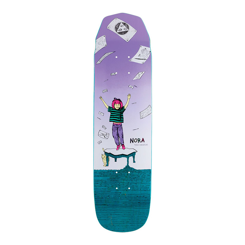 Welcome Magilda Mini Nora Vasconcellos Pro Model On Wicked Mini Skateboard Deck Assorted Colours 7.6