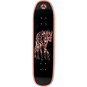 Welcome Maned Woof on Son of Moontrimmer Skateboard Deck Coral Dip 8.25