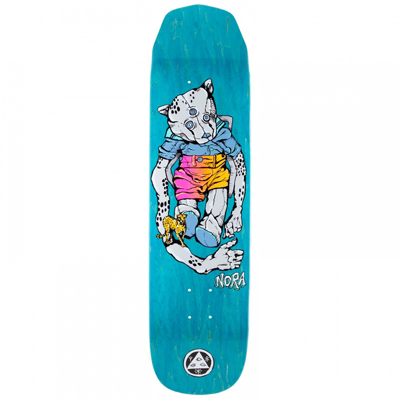 Welcome Nora Vasconcellos Teddy on Wicked Princess Skateboard Deck Grey/Various Stains 8.125
