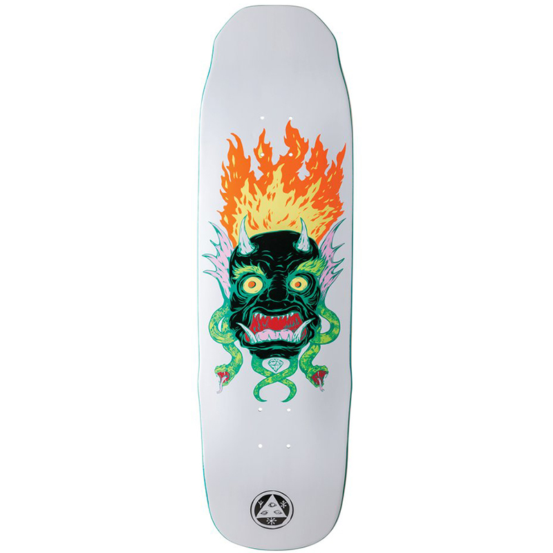 Welcome Old Nick on Sledgehammer Skateboard Deck White 9.0