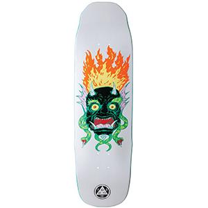 Welcome Old Nick on Sledgehammer Skateboard Deck White 9.0