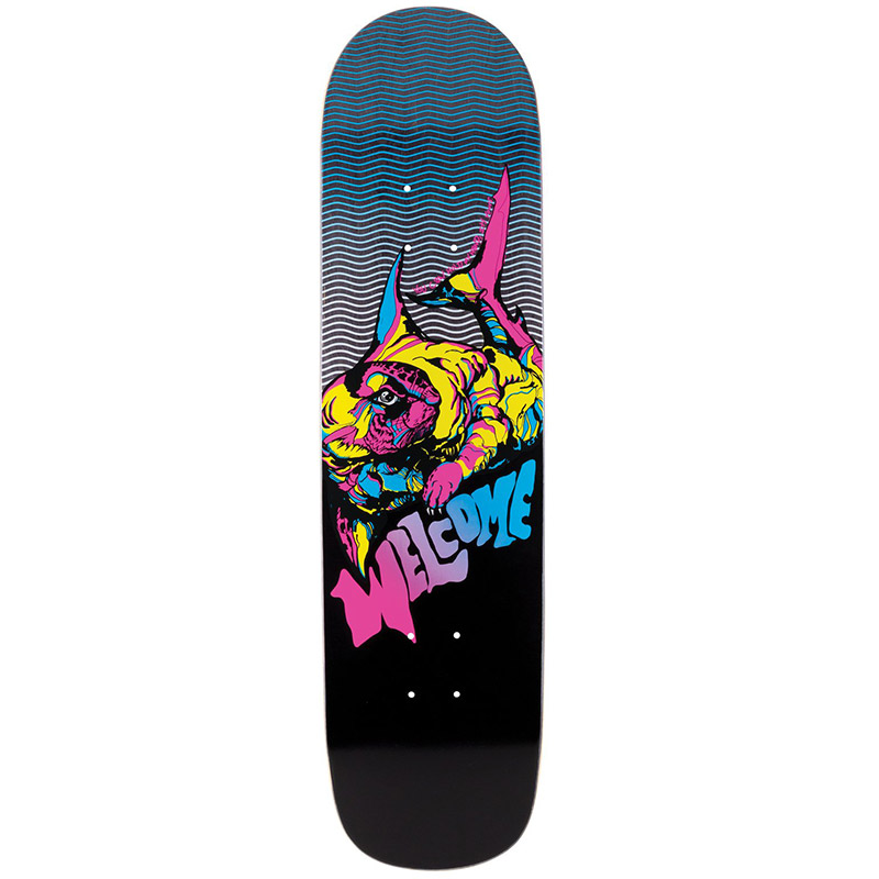 Welcome Otter On Bunyip Skateboard Deck Black 8.0
