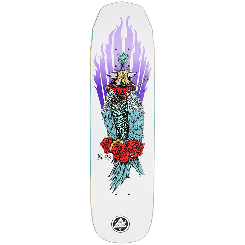 Welcome Peregrine Nora Vasconcellos Pro Model On Wicked Princess Skateboard Deck White 8125