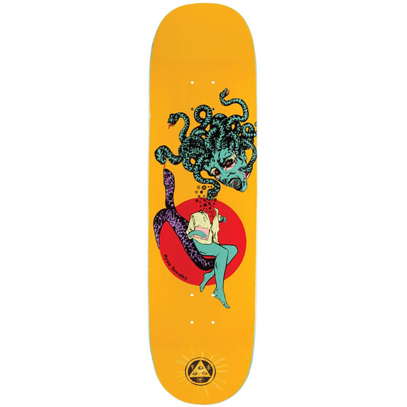Welcome Ryan Townley Gorgon On Enenra Skateboard Deck Yellow 8.5