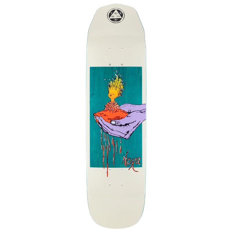 Welcome Soil Nora Pro Model on Wicked Princess Skateboard Deck Bone 8.27