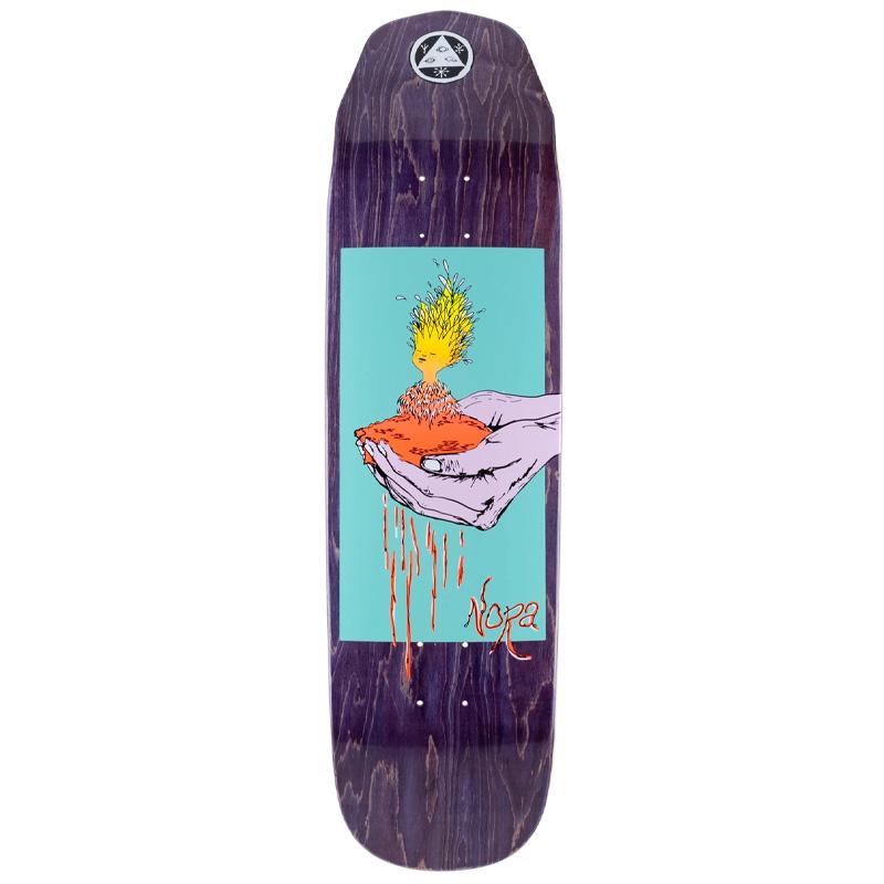 Welcome Soil Nora Pro Model on Wicked Queen Skateboard Deck Purple Stain 8.6