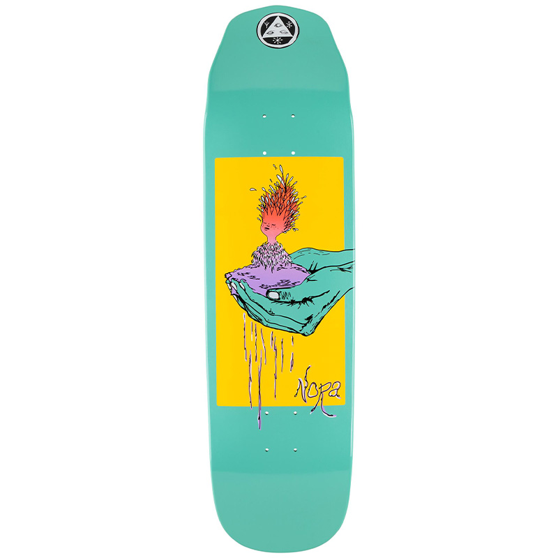 Welcome Soil Nora Vasconcellos Pro Model On Wicked Queen Skateboard Deck Teal Dip 8.6