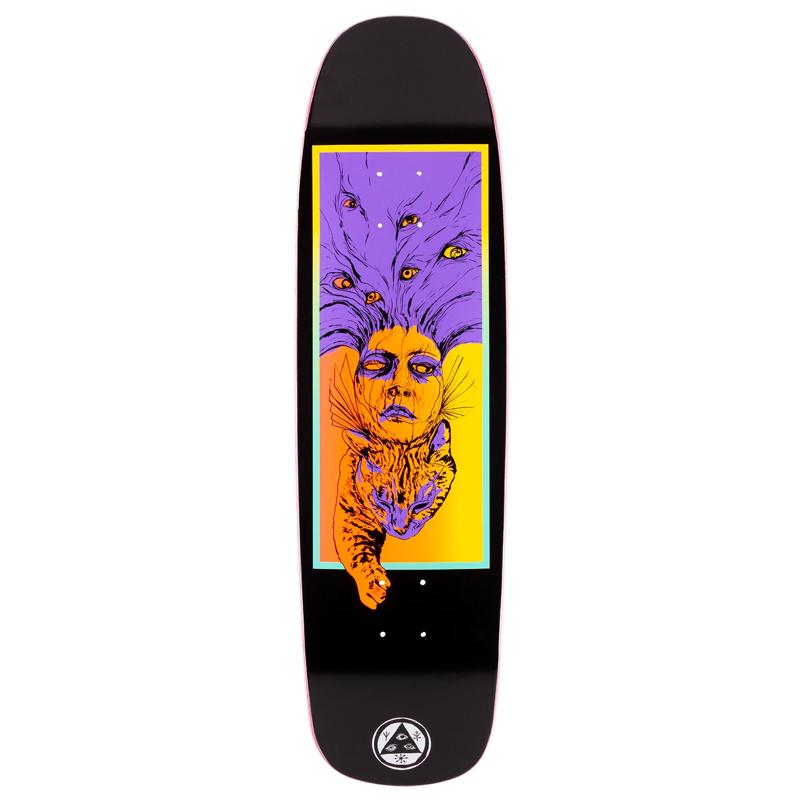 Welcome Stoker On Son of Golem Skateboard Deck Black 8.75