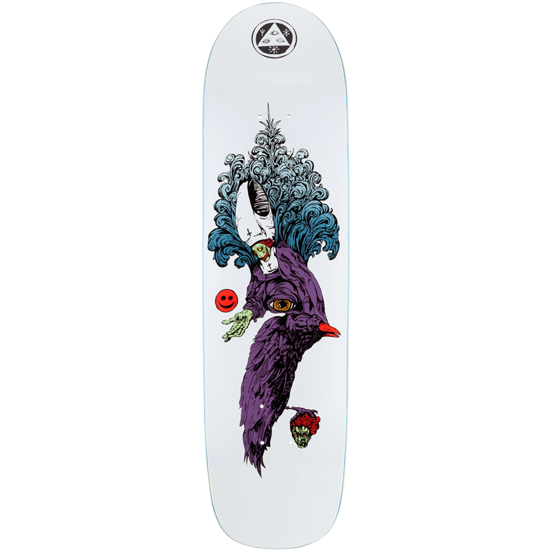 Welcome Tonight Im Yours On Son of Planchette Skateboard Deck White 8.38