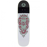 Welcome Triger on Bunyip Skateboard Deck teal/Red8.0