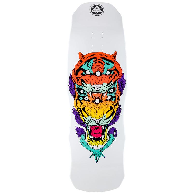 Welcome Triger on Dark Lord Skateboard Deck White Dip 9.75