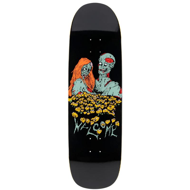 Welcome Zombie Love on Boline Skateboard Deck Black 9.25