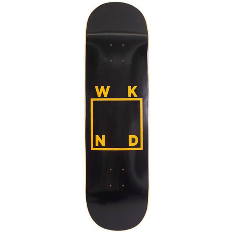 WKND Black Logo Skateboard Deck Assorted Veneers 8.25