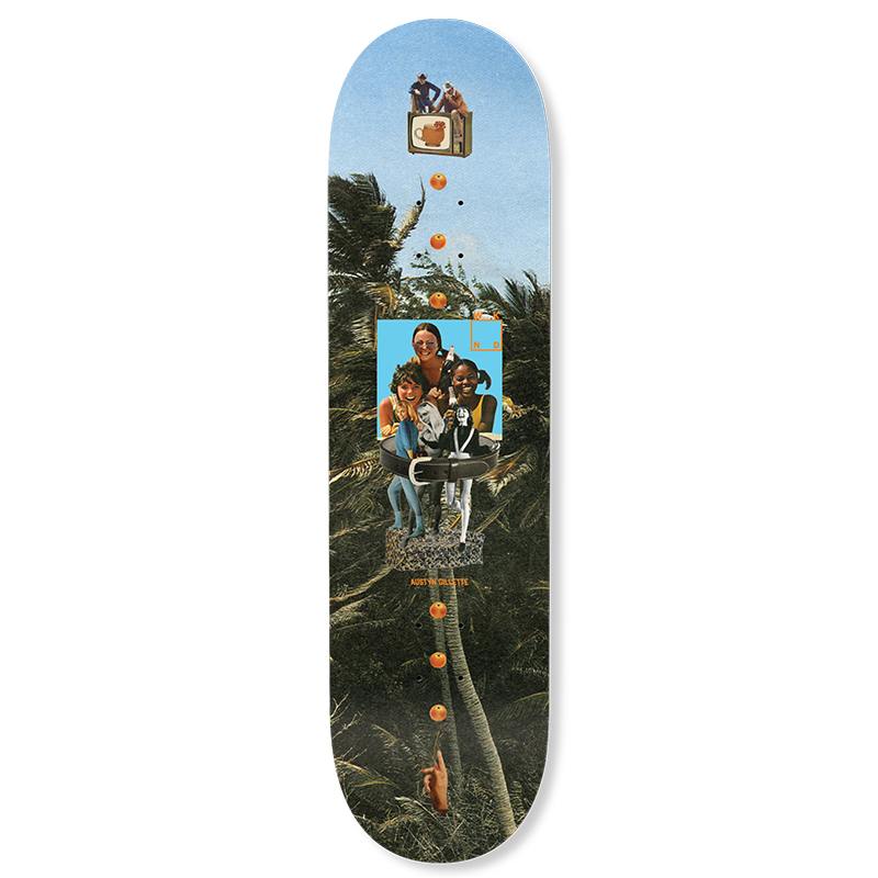 WKND Collage Gillette Skateboard Deck 8.25