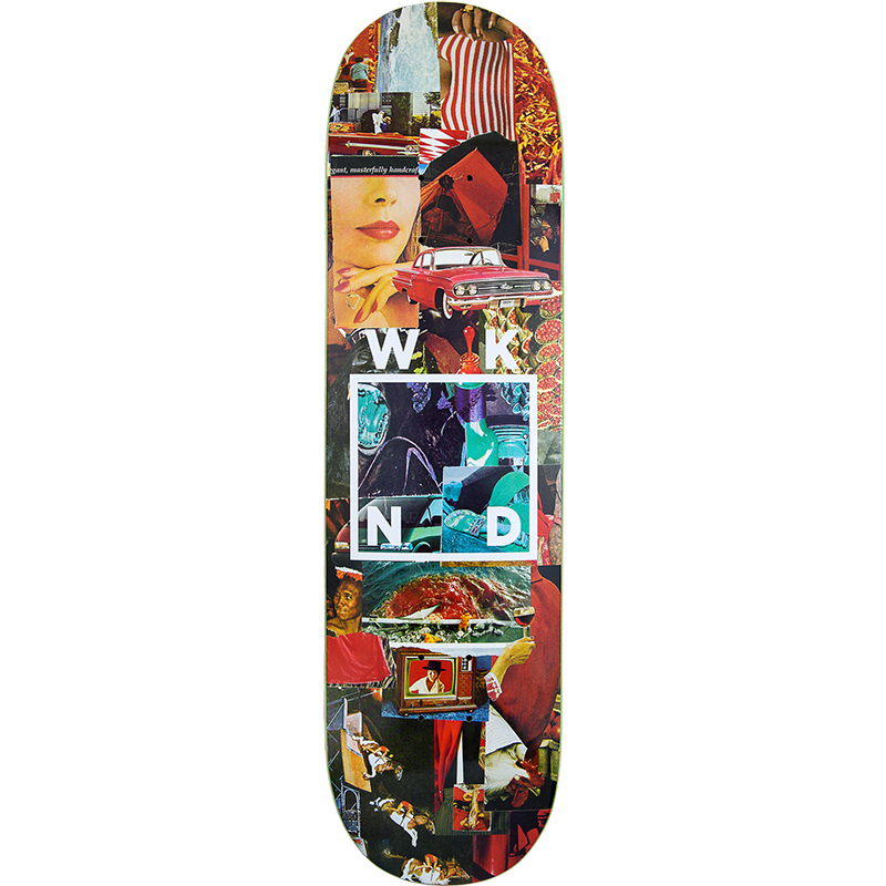 WKND Collage Logo Red Skateboard Deck 8.0