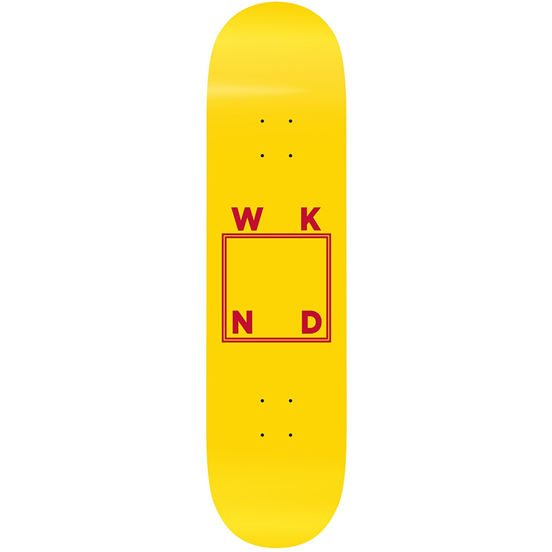 WKND DHL Logo Yellow Skateboard Deck 8.5