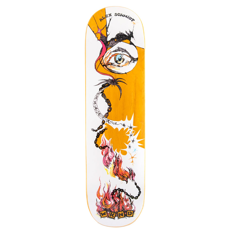 WKND Fire Alex Schmidt Skateboard Deck 8.25