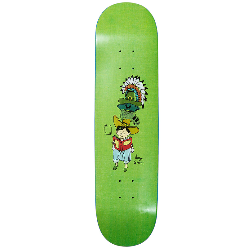 WKND Gillette Many Hats Skateboard Deck Green 8.0