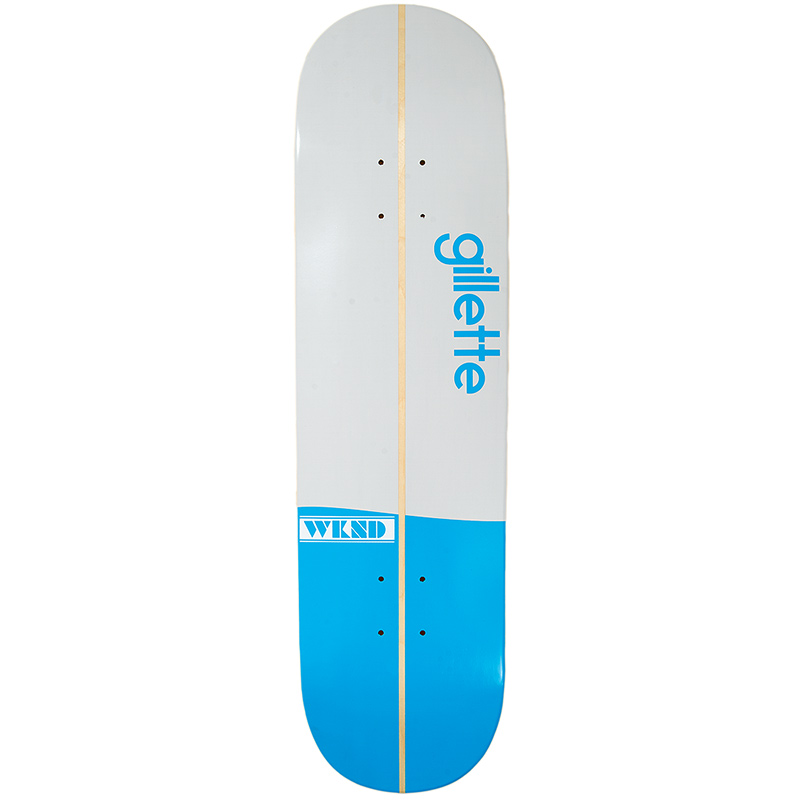 WKND Gillette Surfs Up Skateboard Deck White/Blue 8.5