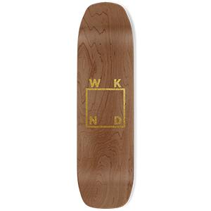 WKND Gold Logo Skateboard Deck Glitter 8.5