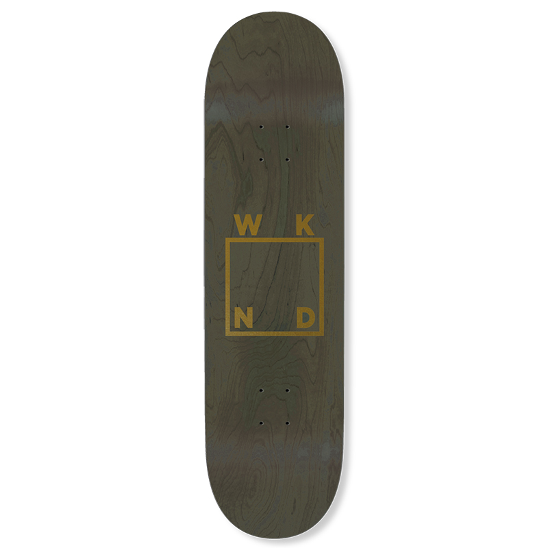 WKND Gold Logo Skateboard Deck Green 8.25