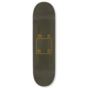 WKND Gold Logo Skateboard Deck Green 8.25
