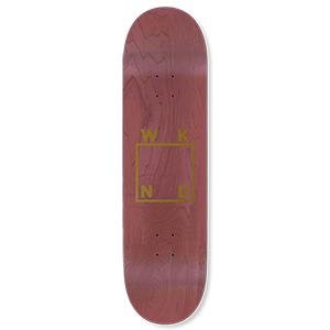 WKND Gold Logo Skateboard Deck Maroon 8.0