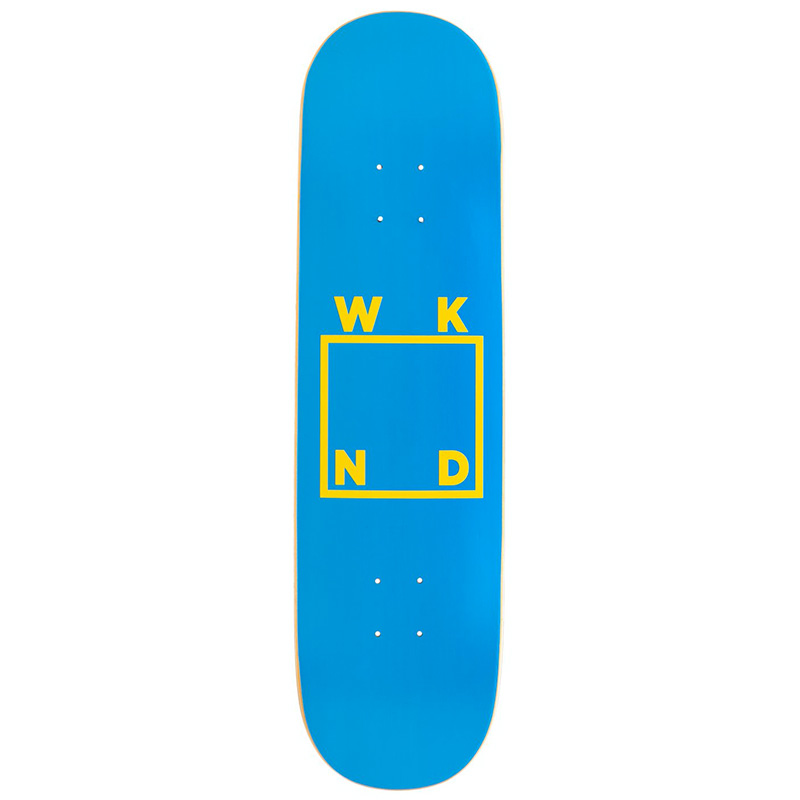 WKND Logo Skateboard Deck Blue Yellow 8.125