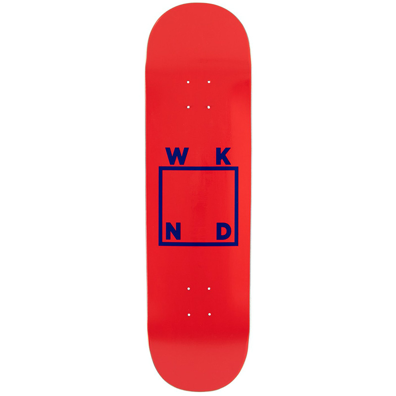 WKND Logo Skateboard Deck Red Blue 8.375