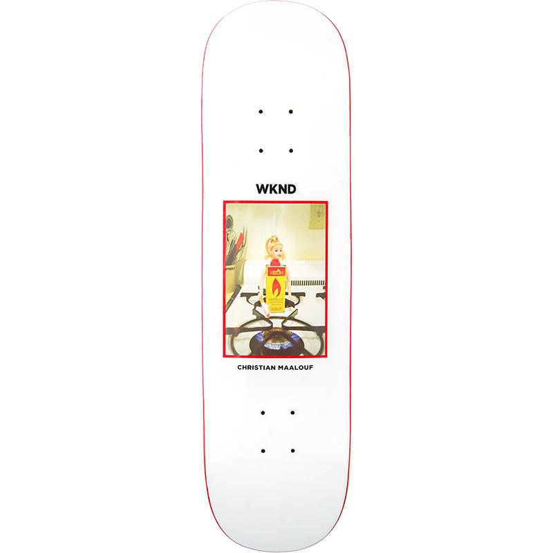 WKND Maalouf Doll Parts Flame Girl Skateboard Deck 8.25