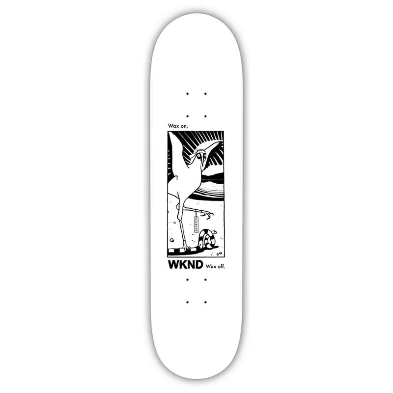 WKND Natural Selection Gilette Skateboard Deck White 8.0