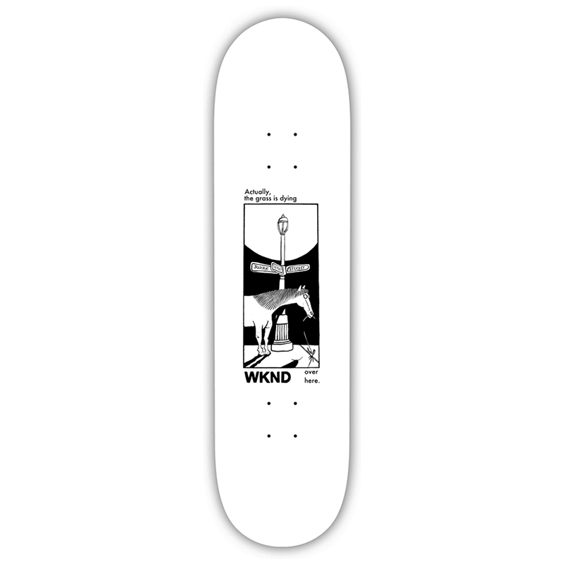 WKND Natural Selection Stuckey Skateboard Deck White 8.25